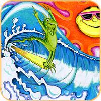 Surfing Iguana Lizard