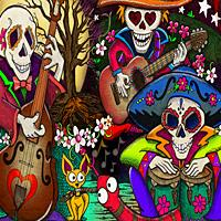 Day of the Dead artwork by Julie Oakes