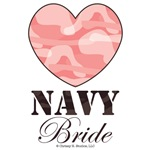 Navy Bride Pink Camo Heart
