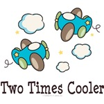 Two Times Cooler Twin Airplane Tees Gifts