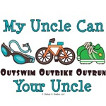 Triathlete Uncle Triathlon Teen Kids Baby Gifts