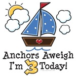 Sailboat Nautical Theme Age 1-7 Birthday Gifts