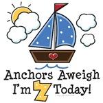 7th Birthday Sailboat Nautical Theme Party Ideas