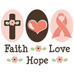 Faith Love Hope Pink Ribbon BCA T shirt Gifts