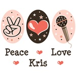 Peace Love Kris Allen T shirts Tees Gifts