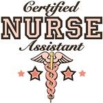 Certified Nurse Assistant Pink Caduceus T shirt an