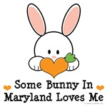 Some Bunny In Maryland Loves Me T-shirt Gifts