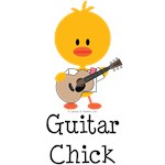 Guitar Chick T-shirts Tees and Gifts