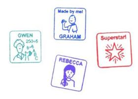 Personalized Name Stamps for Kids