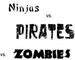 Zombie, Ninja, Pirate Battle