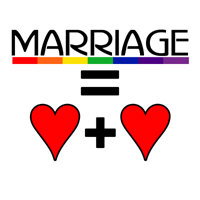 MARRIAGE EQUALS HEART PLUS HEART