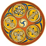Lughnasadh Celtic Spiral Art T-Shirts and Gifts