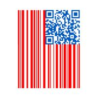 USA Bar Code Flag