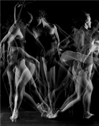 Abstract Black and White Dancer