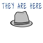 Fringe Observer Fedora Hat - They Are Here