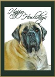 NEW English Mastiff Christmas Card