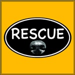 Rescue Nose Black Oval