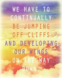 Jumping Off Cliffs Quote