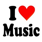 I Love (Music) Tee Shirts