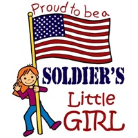 Proud to Be a Soldier's Little Girl (Red Hair)