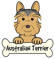 Australian Terrier Cartoon T-Shirts and Gifts