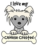 Gray Chinese Crested Cartoon