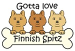 Three Finnish Spitz