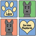 I Love German Shepherd
