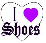 I Love Shoes Heart