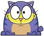Cartoon Blue Cat