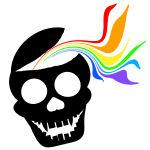 Rainbow Black Skull