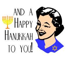 Retro Happy Hanukkah Woman