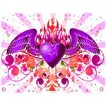 Urban Angel Heart and Flames Design