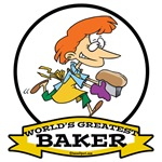 WORLDS GREATEST BAKER FEMALE CARTOON