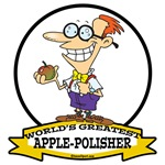 WORLDS GREATEST APPLE POLISHER CARTOON