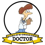 WORLDS GREATEST DOCTOR LADY CARTOON