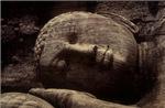 Reclining Stone Budha Head