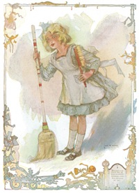 Dorothy with Broom