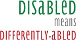 Disabled means differently-abled