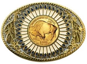 Buffalo gold oval 1