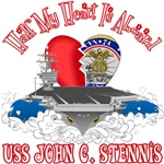 T-shirts, hats, mugs, stickers and gift items for USS John C. Stennis Family