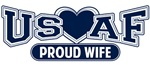 T-shirts, hats, mugs, stickers and gift items for Air Force Wife