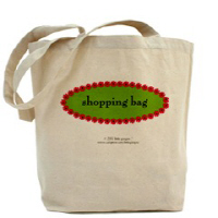 SHOPPING BAGS! Encourage Recycling. Hip and Trendy