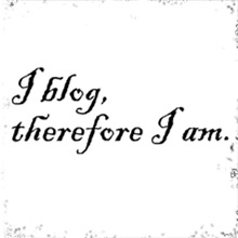 I blog therefore I am