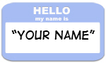 Hello My Name is (blue)