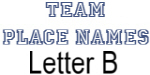 Team Place: Letter B