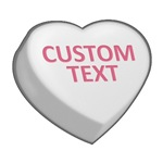 White Custom Candy Heart