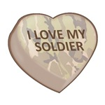 I LOVE MY SOLDIER - Candy Heart