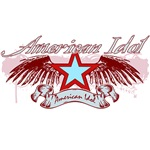 American Idol Winged Star - Red