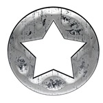 Silver Vintage Star